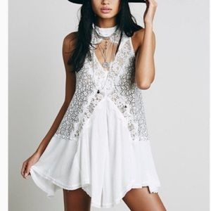 Free People Tell Tale Heart Lace Tunic Dress